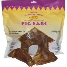 Pig Ears Chew Dog Treat (10-Pack)