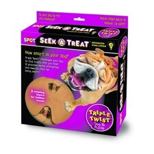 Seek-A-Treat Advanced Challenge Triple Twist Dog Toy