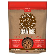 Buddy Biscuits Grain Free Soft & Chewy Beef Flavored Dog Treat