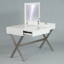 Porsha Desk and Vanity with Mirror