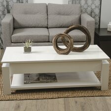 ayla White Lacquer Lift-Top Rectangular Coffee Table