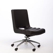 Oprah Mid-Back Leather Office Chair with Swivel