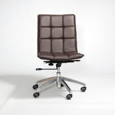 <strong>Matrix</strong> Gates Mid-Back Leather Office Chair with Swivel