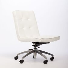 Bloomberg Mid-Back Leather Office Chair with Swivel