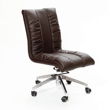 <strong>Matrix</strong> Comphy Mid-Back Leather Office Chair with Swivel