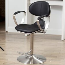 "<strong>Matrix</strong> Jaylo 22.5"" Adjustable Bar Stool with Cushion"