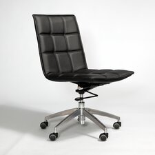 Gates Mid-Back Leather Office Chair with Swivel