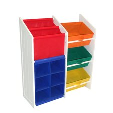 <strong>RiverRidge Kids</strong> Super Storage with 3 Bins, Book Holder and 6-Slot Cubby
