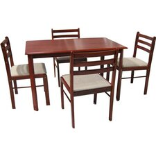<strong>Hodedah</strong> 5 Piece Dinning Set