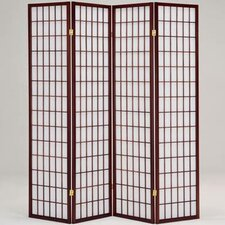 "<strong>Hodedah</strong> 69"" x 69"" 4 Panel Room Divider"