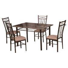 <strong>Hodedah</strong> 5 Piece Dining Set