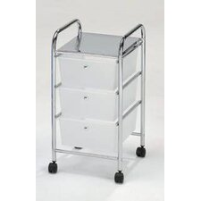 <strong>Hodedah</strong> 3 Drawer Storage Cart