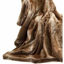 Fancy Rabbit Fur Throw
