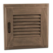 Louver Solid Teak Door and Frame