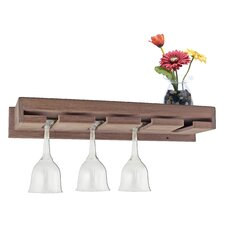 Wine Glass Rack with Shelf