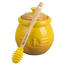 16 oz. Honey Pot with Silicone Honey Dipper