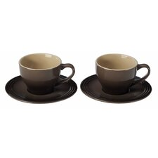 <strong>Le Creuset</strong> 7 oz. Cappuccino Cup and Saucer (Set of 2)