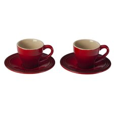 <strong>Le Creuset</strong> 2 oz. Espresso Cup and Saucer (Set of 2)