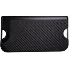 "Cast Iron 9"" Reversible Grill Pan and Griddle"