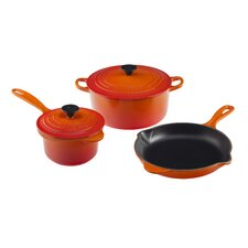 Essential Enameled Cast Iron 5-Piece Cookware Set