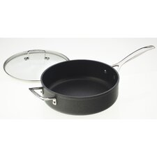 <strong>Le Creuset</strong> Forged Hard-Anodized Nonstick 4.5-qt. Saute Pan with Glass Lid
