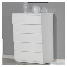 <strong>Whiteline Imports</strong> Nelly 5 Drawer Chest