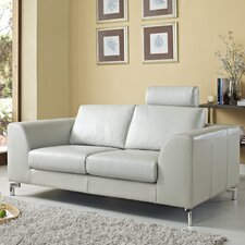 Angela Leather Loveseat