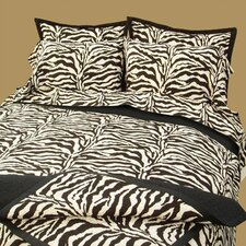 Black Zebra Safari Sheet Set