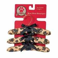 Bow Wow Boutique Dog Clothe Hanger (Set of 3)