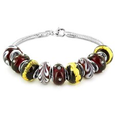 <strong>Szul Jewelry</strong> Hand Blown Glass Beaded Bracelet