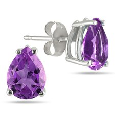 <strong>Szul Jewelry</strong> Pear Cut Gemstone Stud Earrings