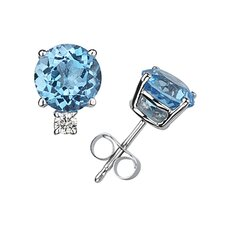 <strong>Szul Jewelry</strong> Round Cut Gemstone Stud Earrings