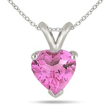 Heart Cut Gemstone Heart Pendant Set