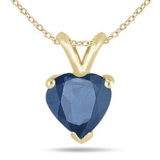 <strong>Szul Jewelry</strong> Heart Cut Gemstone Heart Pendant Set