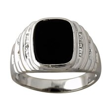 <strong>Szul Jewelry</strong> Men's Round Cut Onyx Ring