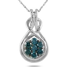 <strong>Szul Jewelry</strong> 10K White Gold Round Cut Diamond Pendant