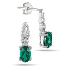 Oval Cut Emerald Stud Earrings