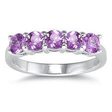 <strong>Szul Jewelry</strong> 14K White Gold Round Cut Gemstone Ring
