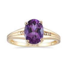<strong>Szul Jewelry</strong> 10K Yellow Gold Oval Cut Gemstone Ring