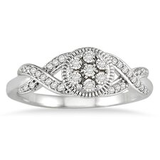 <strong>Szul Jewelry</strong> 14K White Gold Round Cut Diamond Ring