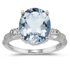 14K Gold Oval Cut Gemstone Ring