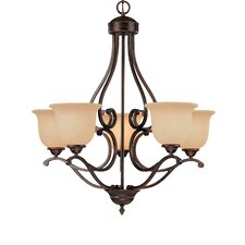 <strong>Millennium Lighting</strong> Courtney Lakes 5 Light Chandelier