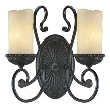 <strong>Millennium Lighting</strong> Brunswick 2 Light Wall Sconce