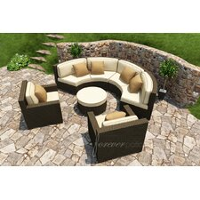Hampton 5 Piece Deep Seating Group with Cushion