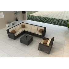 <strong>Forever Patio</strong> Hampton 8 Piece Deep Seating Group with Cushion
