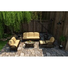Leona 6 Piece Sofa Deep Seating Group with Cushion
