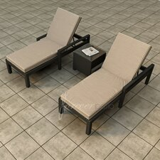 Barbados 3 Piece Chaise Lounge Seating Group with Cushion