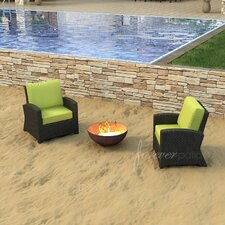 Barbados Deep Seating Chair with Cushions (Set of 2)