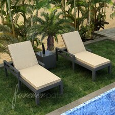 Hampton 3 Piece Lounge Seating Group with Cushion
