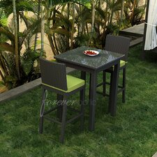 Barbados 3 Piece Bar Height Dining Set